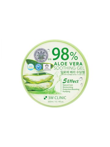 3W Clinic 98% Aloe Vera Soothing Gel